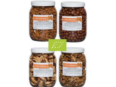 Vorteilspaket Bio-Nüsse 1 (Mandeln, Haselnüsse, Paranüsse und Walnüsse)