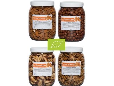 Vorteilspaket Bio-Nüsse 2 (Mandeln, Pekannüsse, Paranüsse en Walnüsse)