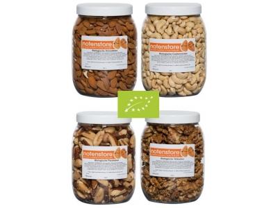 Vorteilpakete Bio-Nüsse 3 (Mandeln, Cashewnüsse, Paranüsse und Walnüsse)