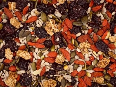 Früchte und Kerne Mix