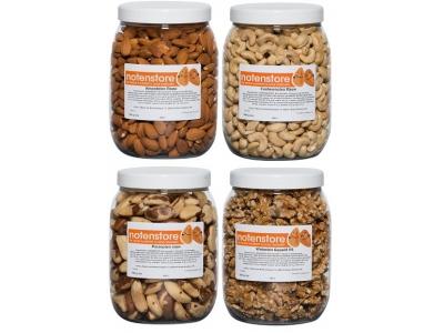 Vorteilpakete Nüsse 3 (Mandeln, Cashewkerne, Paranüsse, Walnüsse)