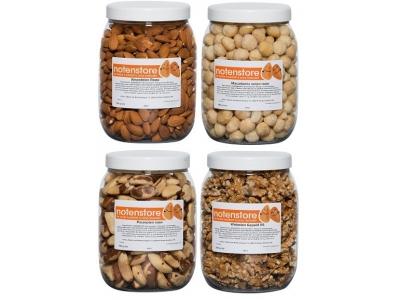 Vorteilpakete Nüsse 4 (Mandeln, Macadamia, Paranüsse, Walnüsse)